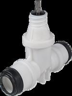 Hausanschluss-Schieber mit PE-Steckmuffen PE d 25 mm POM