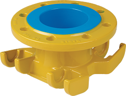 Universal-Anbohrschelle DN 150-500 PN 5 Gas mit Flanschabgang und Doppelbügel DN 80