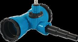 Combi-T mit Schraubmuffen Abgang PE-Anschweissende universal DN 100 PE d 63-50-40 mm