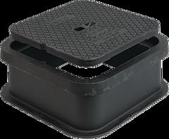 Strassenkasten für Hawle-Combi DN 80 - 150 verstellbar mit 4-Punkt-Gummiauflage