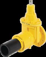 Flansch-/PE-Einschweiss-Schieber DN 50 d 63 mm SDR 11 PN 5 Gas
