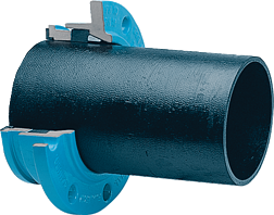 Zweikammer-Flansch für Gussrohre schubsicher DN 50 d 66 mm