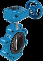 Absperrklappe mit Getriebe Typ LT DN 40 PN 10/16