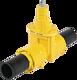 """PE-Einschweiss-Schieber 1"""" d 32 mm SDR 11 PN 5 Gas"""