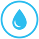 Handrad Kunststoff blau DN 20 - 40 d 100 mm, Vk 12,3 mm Abwasser